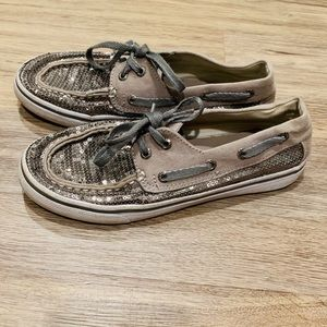 Sperry topsider  big girl size 3 Bahama pewter